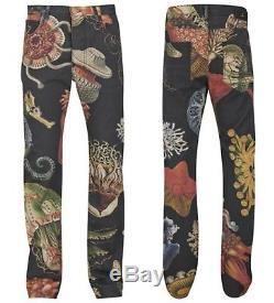 100% Authentic Vivienne Westwood Black Runway Sea Creatures Jeans. W 32 / L 32