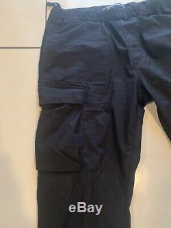 100% Genuine Mens Black Cotton Stone Island Combat Trousers SS19 Season W34