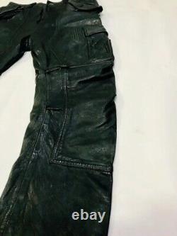 $1298 Designer LAMARQUE Men's Runway Diesel Dsquared2 Cargo Leather Pants 30