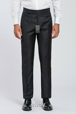 1350$ GIORGIO ARMANI Black Label Tuxedo Pants Cashmere Wool Blue 36 US / 52 EU