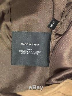 $1495 Ralph Lauren Black Label rrl Carpenter Calf Leather JEAN Pant 32 X 32