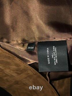 $1495 Ralph Lauren Black Label rrl Hunting Carpenter Leather JEAN Pant 34 X34