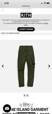 2 brand new stone island pants size 31