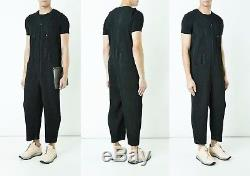 2017AW HOMME PLISSE ISSEY MIYAKE Pleated Jumpsuit Overall Pants Black Size 3