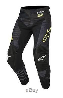 2018 Alpinestars Racer Adult Motocross Pant Tactical Black/Flo Yellow MX Enduro