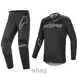 2021 Alpinestars Fluid Motocross MX Kit Pants Jersey Graphite Black / Grey