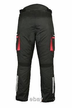 2Pieces Bike Riding Suit Textile Motorbike CE Armoured Waterproof Jacket Trouser