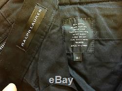 $495.00 NEW RALPH LAUREN BLACK LABEL MULTI-ZIP CARGO BIKER COTTON PANTS SIZE 36R