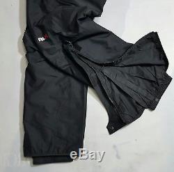 $495 VINTAGE Ralph Lauren Polo Sport RLX Gore-Tex Lined SkI Pants Sz S (BLACK)