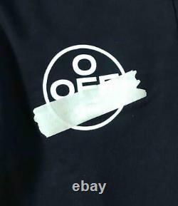 $530 Mens Authentic Off-White Tape Arrow Sweatpants Black Medium Slim
