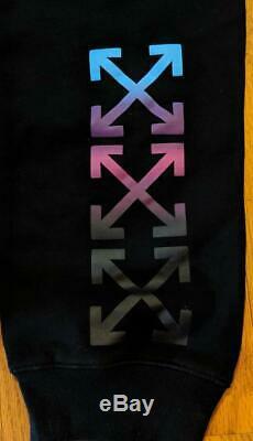 $595 Mens Authentic Off-White Virgil Abloh Gradient Cotton Sweatpants Black 2XL