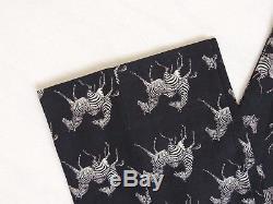 $795 Ralph Lauren Purple Label Italy Linen Classic Zebra Golf Dress Pants 36 34
