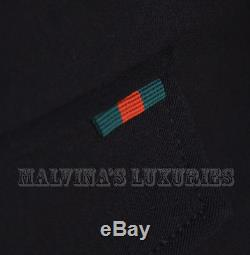 $800 MENS GUCCI PANTS EQUESTRIAN BLACK COTTON GABARDINE WEB DETAIL sz 50 / 36 /M