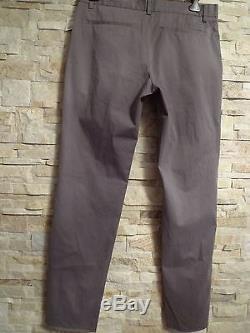 $925. Giorgio Armani Black Label Grey Cotton Pants, Italy Size 54, Us 38