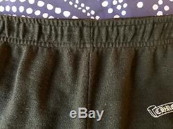 $995 Authentic CHROME HEARTS Made in USA Mens Black Sweat Pants Sz. L (32X30) FS