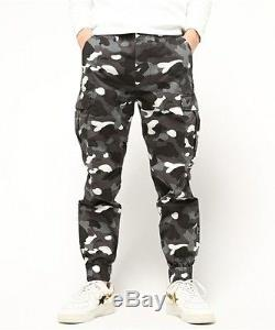 892a53a7 A Bathing Ape City Camo 6 Pocket Jogger Pants Black Men's Sport Slacks  Trousers