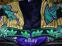 ADIDAS JEREMY SCOTT JS MOTOR PANT BLACK/GOLD Size L print M63870 floral note y3