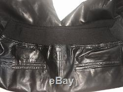 AUTH ALEXANDER WANG Mens Black Calf Leather Sweat Pants Jogger SZ Large $1197