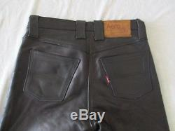 Aero Five Pocket Mid-weight Horsehide Black Leather Pants! Size 34x28
