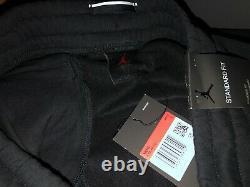 Air Jordan DNA HBR Active Mens Jumpman Pants AV0048-010 Black- Size Large