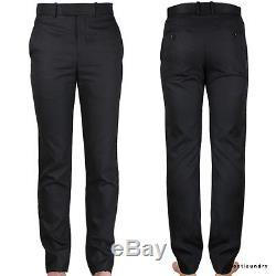 Alexander McQueen Luxurious Black Silk Wool Tuxedo Style Pants Trousers IT46 W30