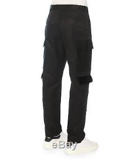 Alexander McQueen Mens Black Cargo Pants US Size 36 EU 52R Velvet