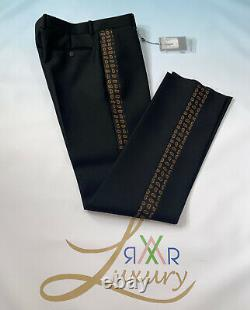 Alexander McQueen Trousers With Mini Paisley Striped Size 50