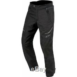 Alpinestars AST-1 Textile Motorcycle Pants Waterproof Trousers Short Black J&S