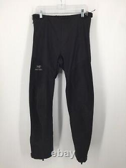 Arcteryx Alpha SL Mens Pants Medium Black Gore-Tex Side Zip Rain Pant Used