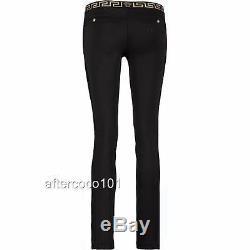 Auth Versace Medusa black Trousers Pants Uk8 US4 IT40 As Gigi Leggings dress NEW