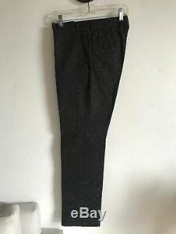 Authentic Vintage Black GUCCI Monogram GG Pants size 32 Tom Ford Era