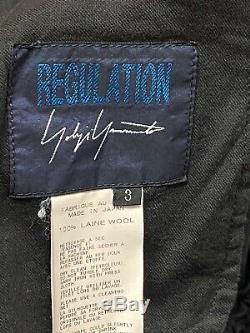 Authentic Yohji Yamamoto Regulation 3 Black Drop Crotch Pants L