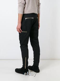 Balmain Black Multi Zip Runway Cargo Pants Jeans Sz S Bnwt