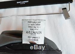 BALMAIN LEATHER LAMBSKIN BIKER SWEATPANTS SMALL S BLACK PANTS RETAILS $3,219