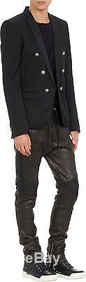 BALMAIN PARIS NOT H&M Leather Pull-On Moto Pants size Medium