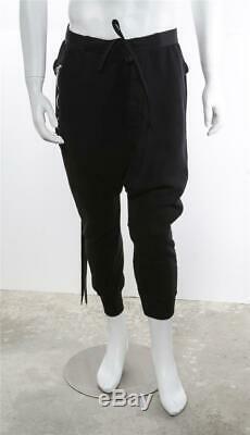 BEN TAVERNITI Unravel Project Black Button-Fly Drop-Crotch Jogger Sweatpants M
