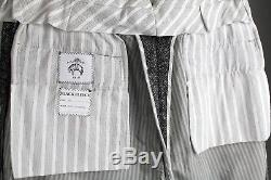 BLACK FLEECE (BB1) W32 Thom Browne for Brooks Brothers Slim Tweed Wool Trousers