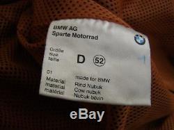 BMW Men's Dress & Ride Nubuck Leather Motorcycle Suit Jacket & Trousers EU 52
