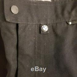 BMW Mens Motorcycle Pants Sz 42 Long Motorrad Streetguard 2 Black Trousers