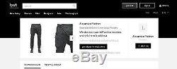 Bnwt Alexandre Plokhov Cargo Diagonal Front Waxed Cargo Black Trousers 48it, 729$