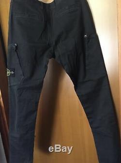 BNWT W32 SKCERTILOGO STONE ISLAND RARE Cargo pants trouser black faded