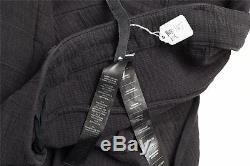 BORIS BIDJAN SABERI Mens P13 Cowhide Textured SS13 P1-F1904 Black Pants 2/M