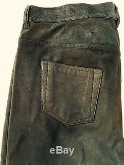 Brand New Rick Owens Mens Leather Pants, Size 52 It / 42 Us Retail $3150