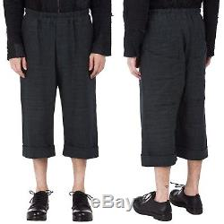 BY WALID Mens Drawstring Heavy Linen Cropped Pants M/30-33