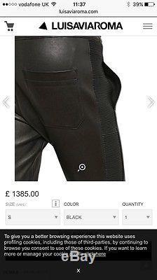 Balmain Men's Leather Biker Trousers