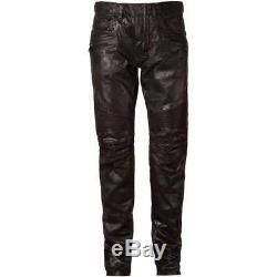 Balmain Mens Black Cotton Varnished Biker Trouser Jeans W5ht503d209 Size 31