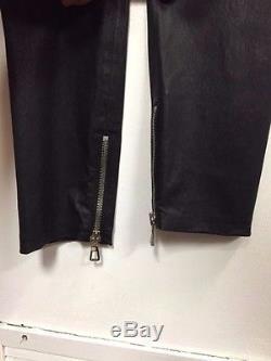 Balmain x H&M Men's Leather Biker Jogger Pants Size M NWT