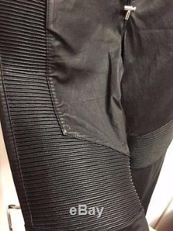 Balmain x H&M Men's Leather Biker Jogger Pants Size S NWT