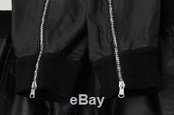 Black Balmain leather jogging trousers pants men L EU 50