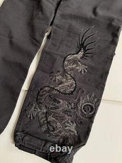 Black Maharishi Dragon Embroidered Snopants